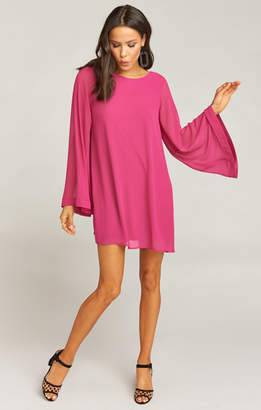 Show Me Your Mumu Bombshell Dress ~ Fuchsia Pop Chiffon
