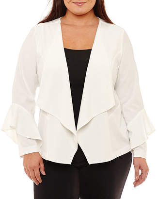 Boutique + + Bell Sleeve Blazer - Plus