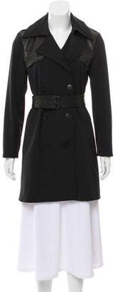 Theory Leather-Accented Trench Coat
