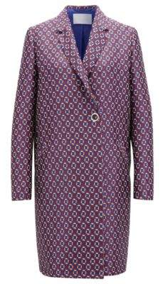 BOSS Hugo Relaxed-fit coat all-over scarf-inspired print 4 Patterned