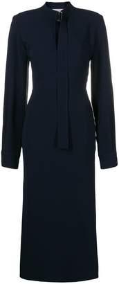 Victoria Beckham slashed long sleeved dress