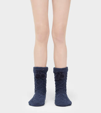 UGG Pom Pom Fleece-Lined Crew Sock