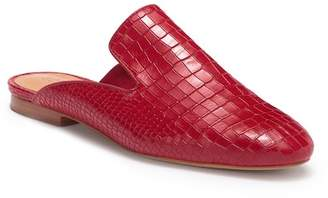 Schutz Avamel Croc Embossed Leather Loafer