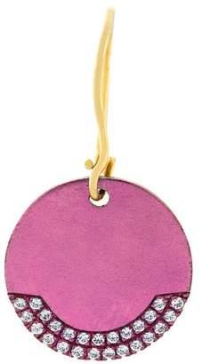 Ileana Makri Eye M By round plate earring