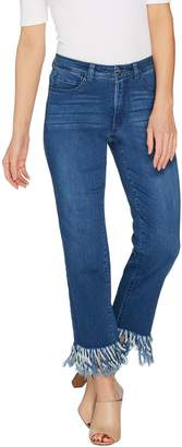 Women With Control Women with Control Petite My Wonder Denim Fringe Jeans