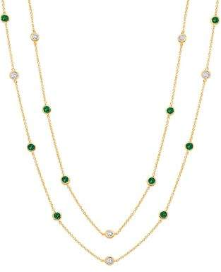 Crislu Precious Strands 18K Yellow Gold Plated Necklace