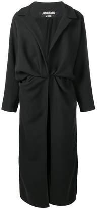 Jacquemus Vaal draped coat