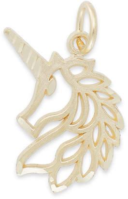 Macy's Unicorn Head Charm in 14K Gold