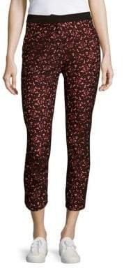 Sandro Printed Cotton-Blend Cropped Pants