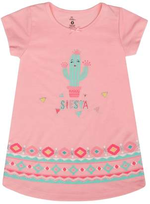 Petit Lem Little Girl's Hola Lama Nightgown