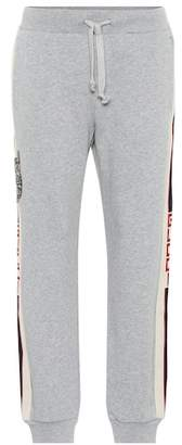 Gucci Embellished cotton trackpants