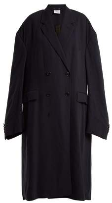 Vetements Oversized Double Breasted Coat - Womens - Navy