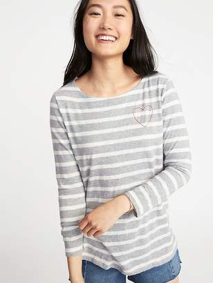 Old Navy Relaxed Graphic Mariner-Stripe Tee for Women