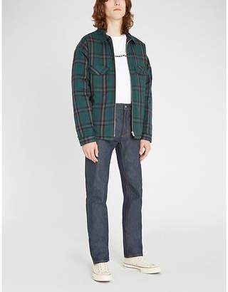The Kooples Zipped check cotton shirt