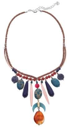 Nakamol Design Stone Fringe Collar Necklace