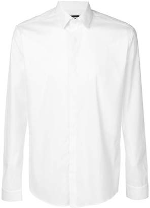 Les Hommes long-sleeve fitted shirt