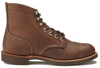 ef1ad415584 Red Wing Shoes Men s 6 Inch Iron Ranger Toe Cap Leather Lace Up Boots