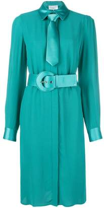 Elisabetta Franchi belted long-sleeve midi dress