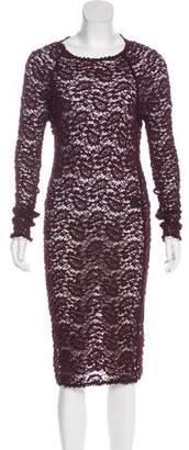 Etoile Isabel Marant Lace Long Sleeve Dress