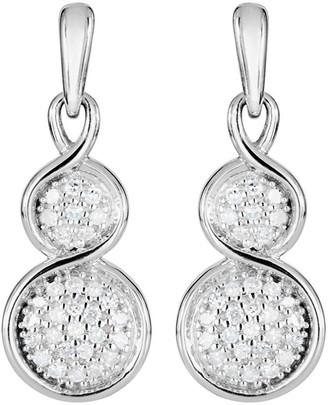 75ac393f8 Love Diamond Love DIAMOND 9ct White Gold Graduated 15 Point Diamond Pendant  Necklace & Earrings Set