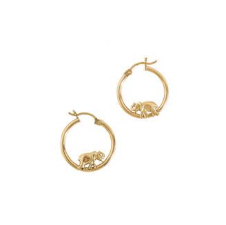 Haati Chai Elephant Hoop Earrings