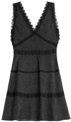 The Kooples Print Dress with Lace