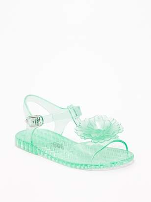 Old Navy Flower Jelly Sandals for Toddler Girls