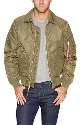 Alpha Industries Men's CWU 45/P Slim FIT MID Length Zip Flight Jacket