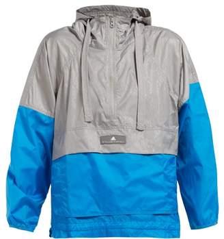 adidas by Stella McCartney Two Tone Hooded Windbreaker Jacket - Womens - Blue Multi