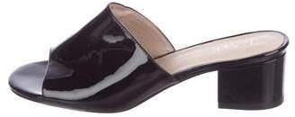 Raye Patent Leather Slide Sandals
