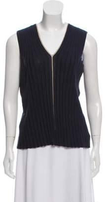 Akris Cashmere-Blend Sweater Vest Navy Cashmere-Blend Sweater Vest