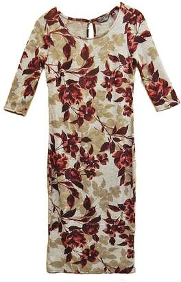 Mlle Gabrielle Burgundy Floral Dress