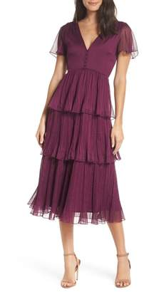 Chelsea28 Tiered Skirt Midi Dress