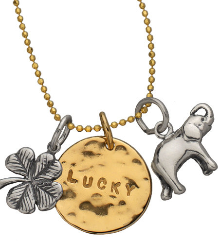 GK Designs Lucky Pendant and Charms Necklace