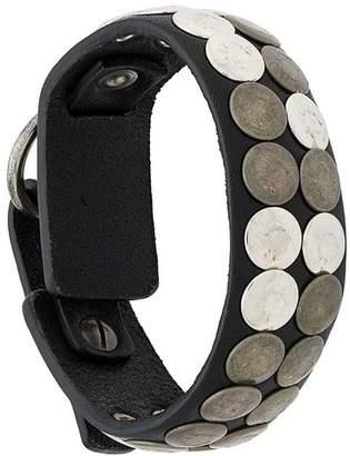 Diesel studded leather bracelet