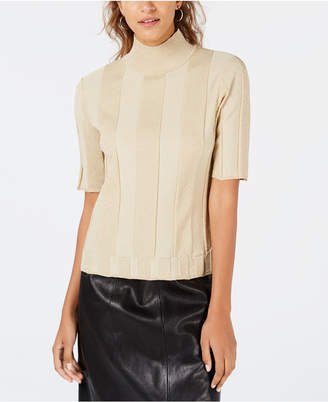 XOXO Juniors' Metallic Mock-Neck Top