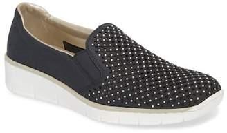 Remonte Rieker & Doris Studded & Perforated Slip-On Wedge Sneaker