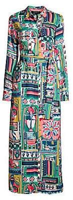 Lafayette 148 New York Women's Long Doha Printed Midi Shirtdress