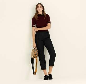 Amanda Wakeley Black Jacquard Slim Leg Trousers
