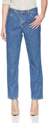 Lee Women's Petite Relaxed Fit All Cotton Straight Leg Jean