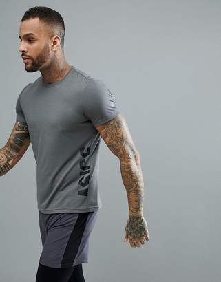 Asics Training Essential Logo Training T-Shirt In Gray 155235-0720