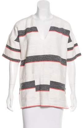 Lemlem Striped V-Neck Blouse w/ Tags