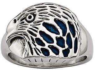 Steel by Design Men's Polished Eagle Ring