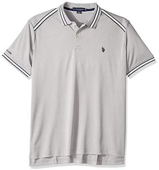 U.S. Polo Assn. Men's Classic Fit Solid Short Sleeve Poly Pique Polo Shirt
