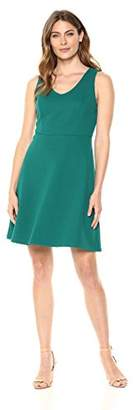 Lark & Ro Women's Sleeveless Fit and Flare Dense Knit Dress