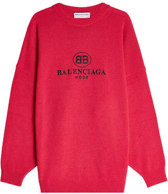 Balenciaga Oversized Pullover with Virgin Wool and Cashmere