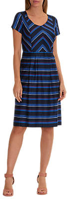 Betty Barclay Striped Shift Dress, Blue