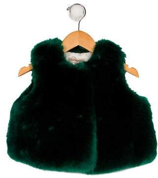 Hucklebones Girls' Faux Fur Gilet Vest w/ Tags