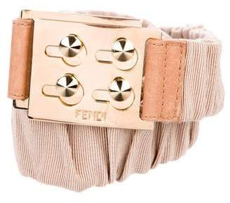 Fendi Elastic Grosgrain Belt
