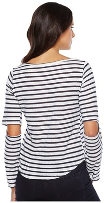 LNA - Odeon Stripe Tee Women's T Shirt $97 thestylecure.com